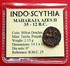 AZES II bits dracma 2g 12BC Indo adentró en la India