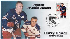 CA14-003, 2014, FDC, Canadian Defensemen, Harry Howell, Original Six,