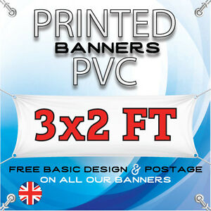 3 X 2 FT PVC BANNERS - OUTDOOR SIGN - ADVERTISING VINYL BANNER - BIRTHDAY PARTY