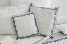 Clayre & Eef Kissenbezug Quilt Grau Kissenhülle 50 x 50 Shabby Landhaus