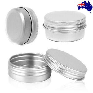 5pcs Empty Aluminium Cosmetic Pot Jar Tin for Cream Lip Balm Cream Container AU