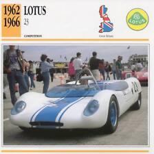 1962-1966 LOTUS 23 Racing Classic Car Photo/Info Maxi Card
