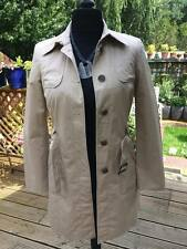 ESPRIT beige coat women's jacket size 12 excellent condition 100% cotton