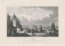 Russia, c1840. Small engraving of Moscow by Samuel Davenport