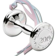 2019 Empire Silver Baby Rattle Sterling Ornament - New From Factory