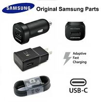 Original Samsung Galaxy Note 8 S8 S9 Auto Fast Wall Charger 4' USB-C Cable BLACK