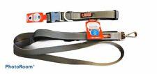 Kong Padded Handle Hands Free 6 Foot Leash And XL Dog Collar NWT Gray