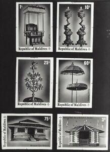 Maldives #542-47 1975 Historical Relics & Monuments composite photographic proof