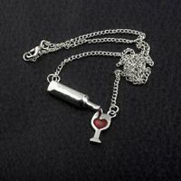 Women Heart Wine Bottle Cup Necklace Chain Pendant Festival-G E8C9 Jewelry Q5W8