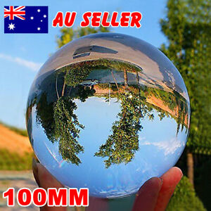 100MM Large Clear Glass Crystal Healing Sphere Photography Lens Ball Decoration