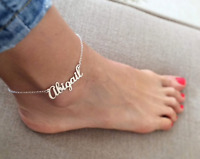 Custom Name Anklet Jewelry Women Personalized Fashion Gift Gold Silver Rose Gold