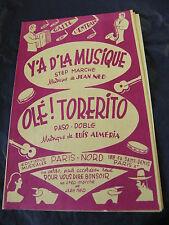 Partitura Y'tiene de la música Jean Olé De Ned!Torerito Luis Almería Music Sheet