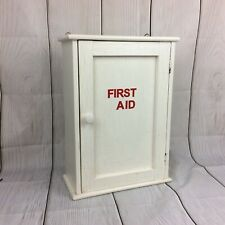 Vintage Painted Pine Wall First Aid Cupboard