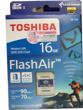 Toshiba Flash Air W-04 Wifi / Wireless SD Memory Card 16GB - UHS-I Class 3