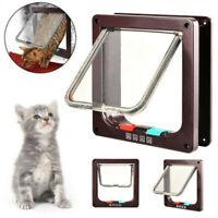 4 Modes Pet Cat Flap Door Lockable Safe Gate Small Dog Entry Frame Magnetic Lock