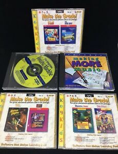 MAKE THE GRADE! VOL. 4 5 6PC CD-ROMS + Making More Music + Writing Machine