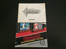 Castlevania + Mario & Duck Hunt Manuals (Nintendo/NES)