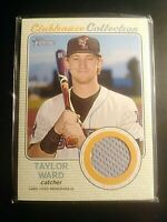 2017 TOPPS HERITAGE MINORS  CLUBHOUSE COLLECTION JERSEY RELIC Taylor Ward