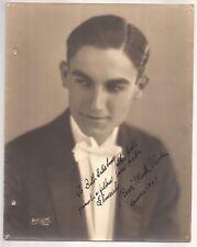 Photo Of Rene Monte Verde Signed To Bill Salisbury 1927