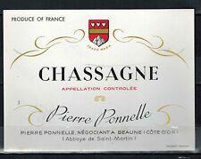 Etiquette de Vin - Chassagne - Bourgogne - Abbaye de Saint-Martin - Réf.n°139