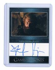 Game of Thrones Season 3 Kristofer Hivju as Tormund Giantsbane Blue Autograph