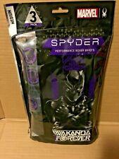 SPYDER MARVEL BLACK PANTHER PERFORMANCE BOXER BRIEFS 3-PACK MEDIUM