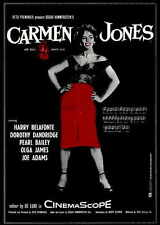CARMEN JONES Movie Promo POSTER B Dorothy Dandridge Harry Belafonte Pearl Bailey