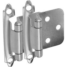 25 Pairs Cabinet Hardware Flush Variable Overlay Hinges Satin Nickel