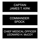TOS Crew Quarters Cabin Signage Stickers Kirk Spock McCoy