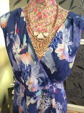 Rare Monsoon Cotton Floral Dress Size 14 Vgc Away 4 September-18.10