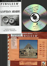 Pimsleur EGYPTIAN ARABIC 1A COMPLETE COURSE CD Set & Book FOREIGN LANGUAGE