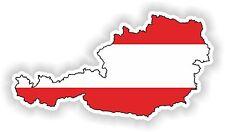 Austria austriaca Mapa Bandera pegatina de parachoques Casco Patineta Guitarra Laptop Auto