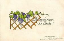 Philadelphia,PA.Fm your Friend John Wanamaker March 1918,Rememberance for Easter
