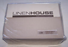 Linen House Taupe Single Bed Plush Cotton Flannelette Fitted Sheet Set New