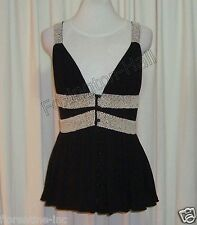 GORGEOUS SASS&BIDE BEADED BLACK RELAXED CAMI TOP 40/4 (AUS 12) Made in Australia