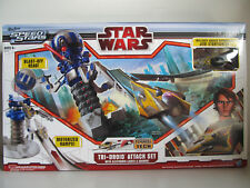 Hasbro Speed Stars Game - Star Wars Tri-Droid Attack Set with Lights & Sounds
