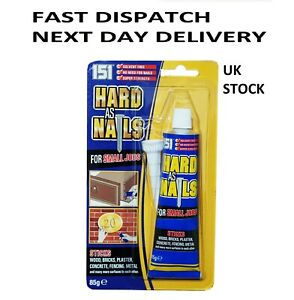 Hard As Nails For Small Jobs High Power Glue Wood Metal Plaster Concrete 85g