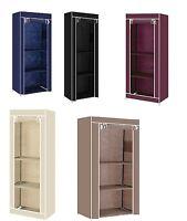 Single Fabric Canvas Clothes Wardrobe Cupboard Shelves Storage Organiser Hanging