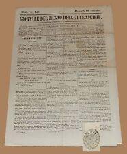 Giornale del Regno delle Due Sicilie 16 Nov 1842 Larino guerra Messico Texas