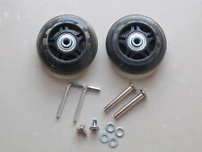 2 Sets Luggage Suitcase Replacement Wheels Axles Deluxe Repair OD 68mm