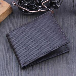 Handmade Leather Men Crocodile Business ID Credit Card Holder Purse Wallet