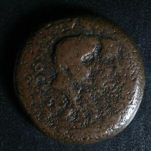 Octavian AE 31 Dupondius -46/-36 Temple Sardinia Caralis RPC 624 Octaving