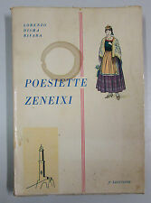 Disma Rivara POESIETTE ZENEIXI Genova 1963 Poesia dialettale genovese