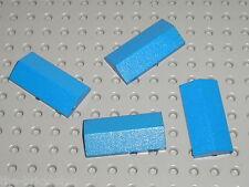 4 x LEGO Blue Slope Brick 2 x 4 Double 3299 / set 4223 365 364 368 356 4163 599