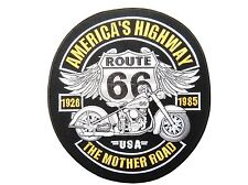 """ROUTE 66 USA Highway Mother Road Chopper Biker Big Embroidered Back Patch 9.8"""""""