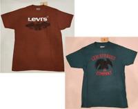 NWT Men's Levi's Graphic Tee T-Shirt  Sizes M, L, XL, XXL Brick, Cyan