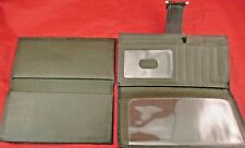 "d937s ""FOSSIL"" Espresso Forest Green Pebbled Leather Bi-fold Women's Wallet-Set"