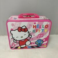 Hello Kitty Lunchbox Tin ( I love Music) 2011 Kid Rare  Case Pink Toy