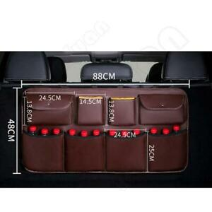 PU leather Storage Bag Trunk Organizer Rear Seat Back Car Interior Accessories
