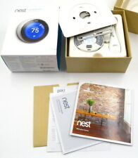 Nest Learning Programmable Thermostat - Stainless Steel T3007ES